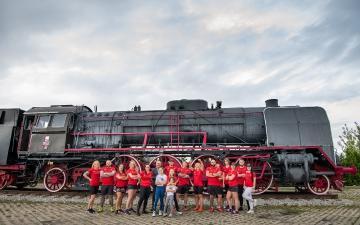 Extremalne czyszczenie lokomotywy